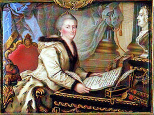 Catherine II writes the Nakaz
