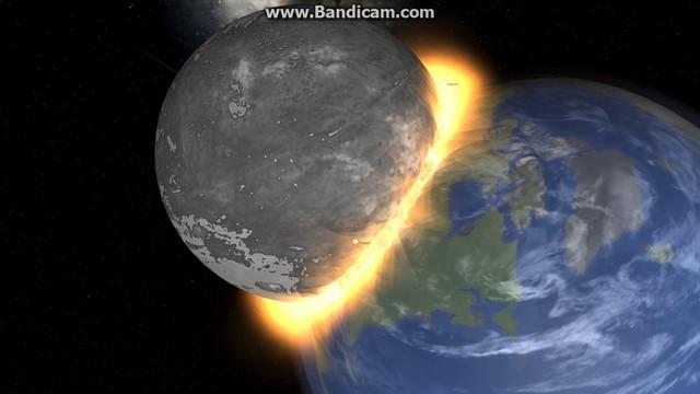 Thea Hits Earth