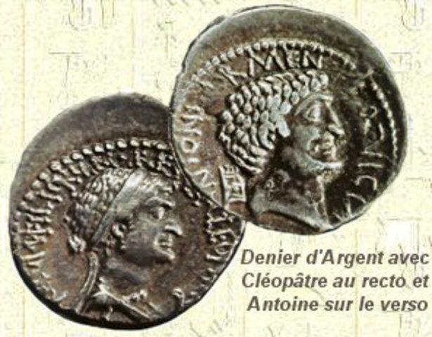 Arrivée de Cléopâtre VII sur le trône d'Egypte.