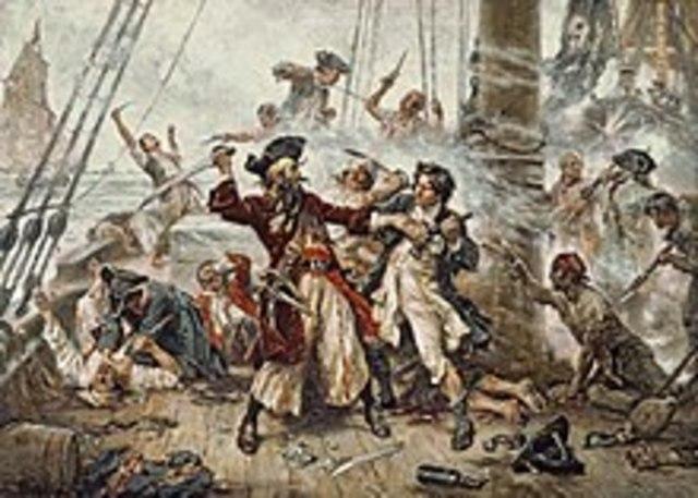 Decadencia de la Edad de oro de la piratería.