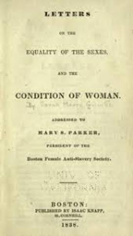 Sarah Grimke's Letters on the Equality of the Sexes and the Canadian of Women Published