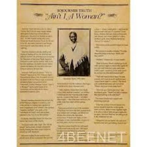 """Sojourner Truth Delivered her """"Ain't I a Woman"""" Speech"""