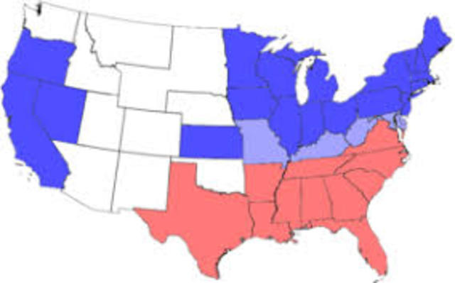 Democratic Party Splits into Northern and Southern Halves