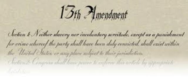 Congress Passed the 13th Amendment