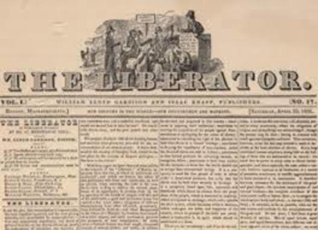 "William Lloyd Garrison Published ""The Liberator"""