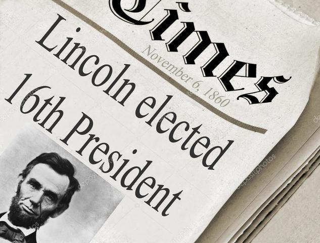 Abraham Lincoln Elected President
