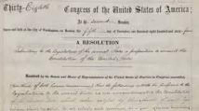 Congress Passed 13th Amendment