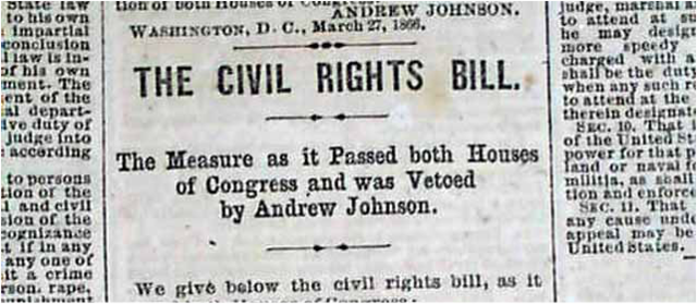Civil Rights Act Passed over Johnson's Veto