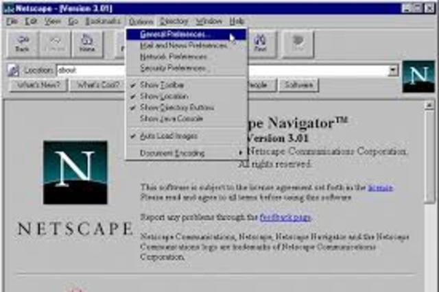 Nace el navegador Netscape