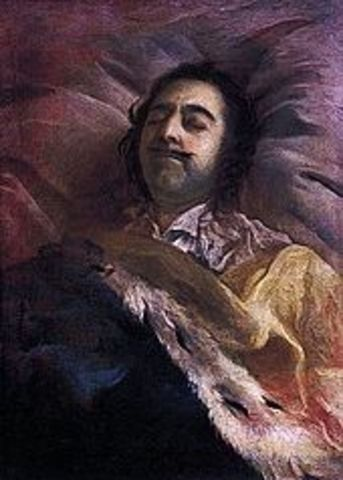 The death of Peter the Great