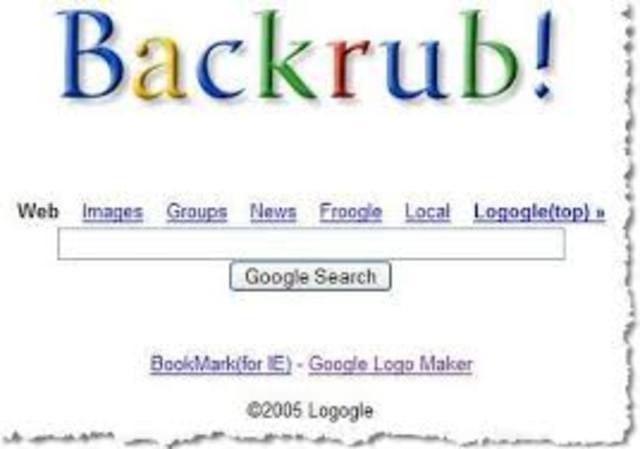 Nuevo motor de búsqueda: BackRub