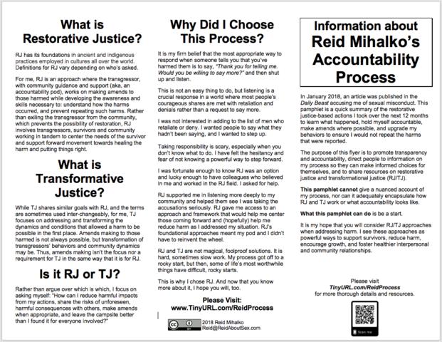 Reid Creates Workshop Flyer for Accountability Transparency