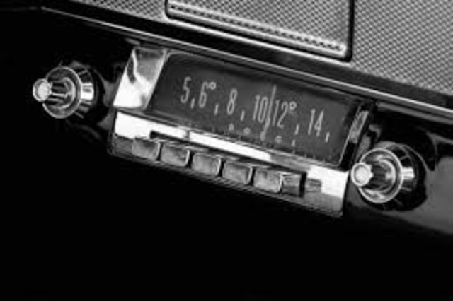 The car radio is introduced
