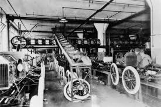 First Ford assembly line