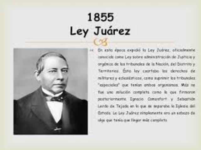 Se promulga Ley Juárez