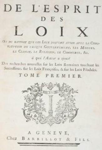 """Montesquieu - """" O Espírito das Leis"""""""