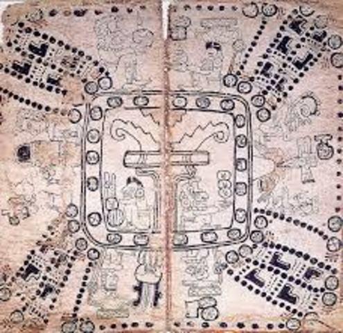 Codex In The Mayan Region (5th Century)