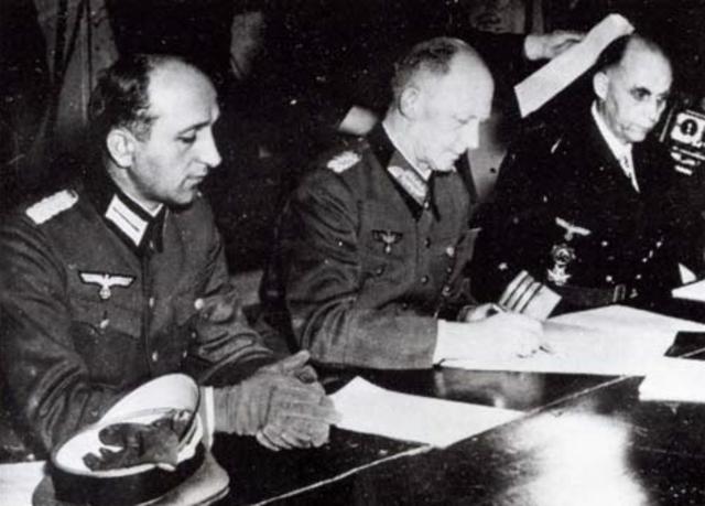 Capitulation allemande à Reims (France)