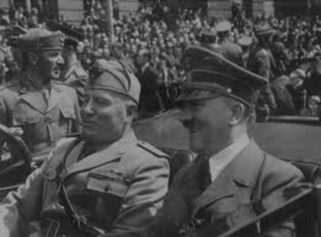 """Mussolini proclama el """"eje de Europa"""""""