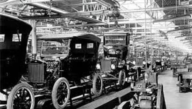 The First Moving Assembly Line