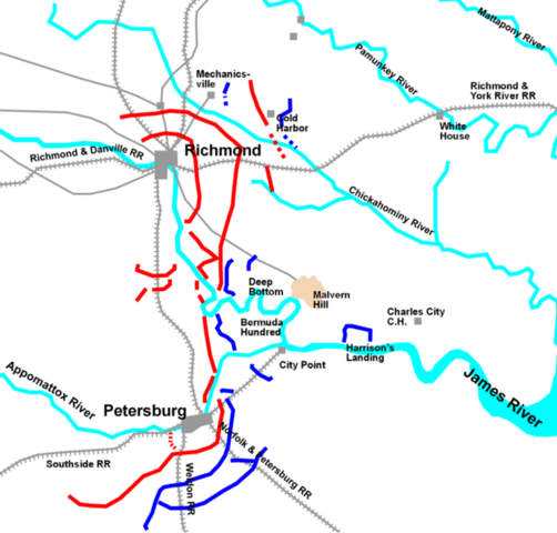 The Battle of Seven Pines:  McClellan's troops attacked near Richmond