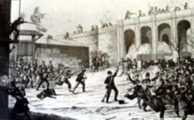 Primer bombardeig de Barcelona