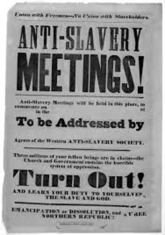 American Anti-Slavery Society Begins