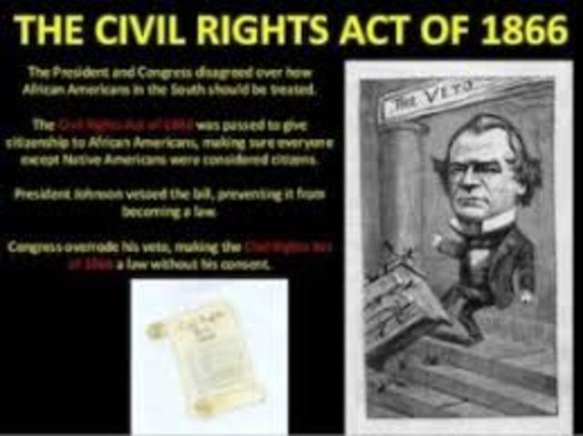 Civil Rights Act is Passed over Johnson's Veto