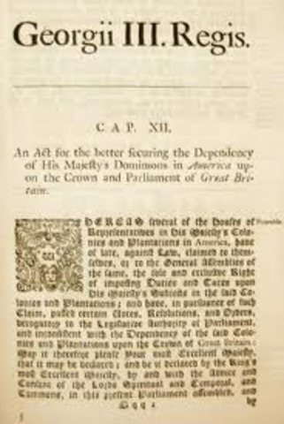 Stamp Act Repealed and Declaratory Act