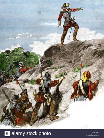 1513 Vasco Núñez de Balboa descubre el Océano Pacífico