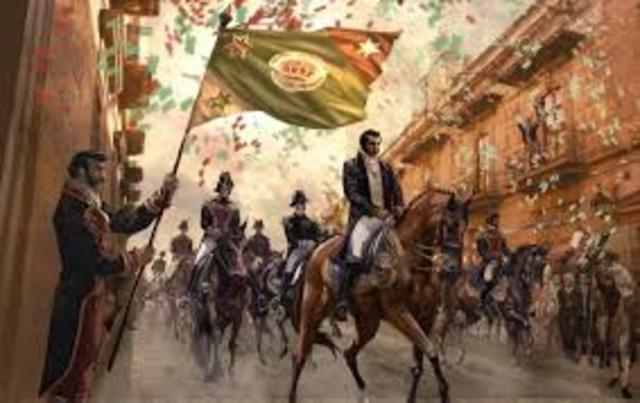 Entrada de Agustín de Iturbide