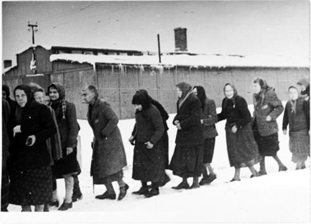 Forced evacuation of Auschwitz