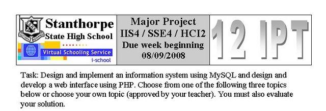 Major Project IIS V / SSE IV