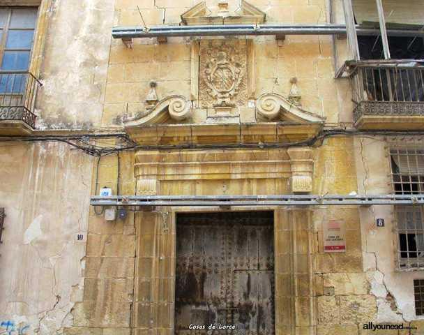 1695 Se construye la fachada de los Guevara en Lorca