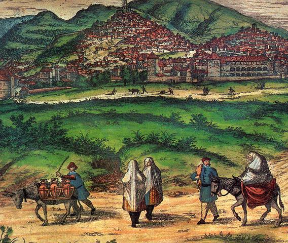 1609 Expulsión de los moriscos de España, derrumbamiento agrícola y artesanal en las áreas afectadas por la expulsión: Murcia, Andalucía y Valencia, parte de Castilla y Extremadura.