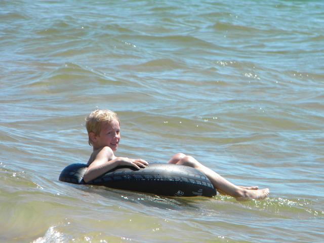 Swam in Lake Michigan