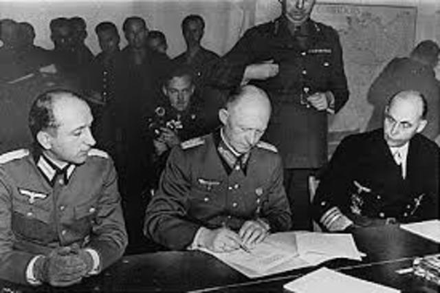 The German Surrender (Europe)