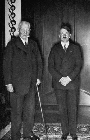 Death of German President von Hindenburg