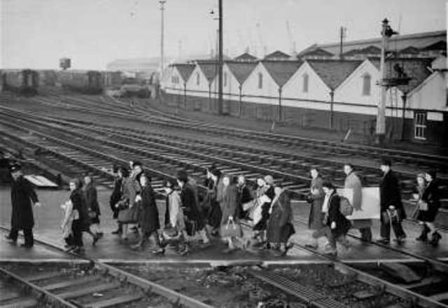 First Kindertransport Arrives in Great Britain