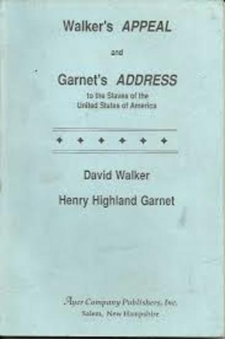 """Henry Highland Garnet's """"Address to the Slaves of the United States of America"""""""