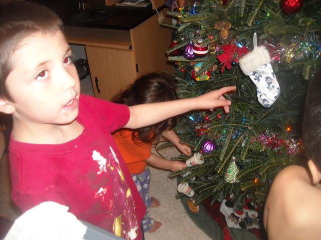 decorating the tree 2010
