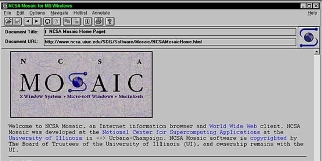 Mosaic Makes the Internet Graphical