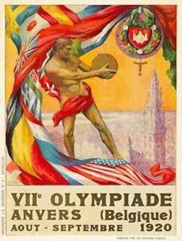 JUEGOS OLÍMPICOS AMBERES BELGICA 1920