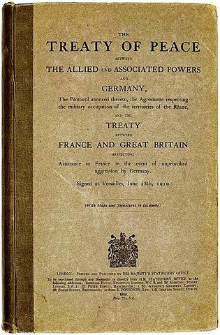 La paz con Alemania: el tratado de Versalles.