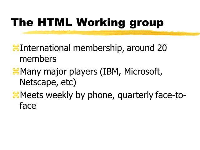 Cracion del HTML Working Group