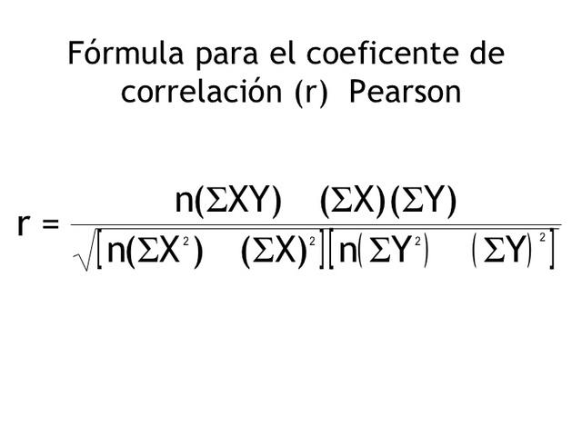 Análisis de regresión, Pearson