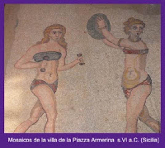 Mujeres olimpiadas en Grecia