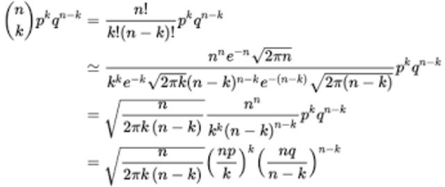 Teorema Moivre-laplace