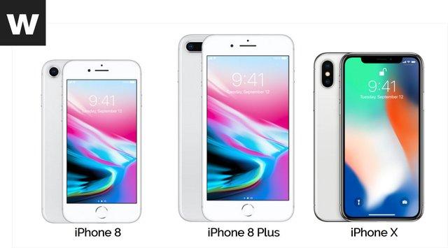 iPhone 8, 8Plus y iPhone x