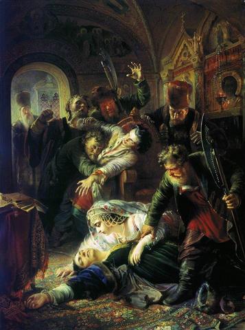 Убийство шестнадцатилетнего царя Феодора Борисовича Годунова